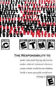 video game responsibility flyer