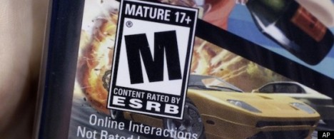 Mature rating on video game case